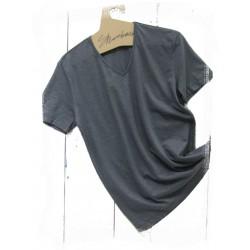 T-Shirt  V-neck Slate